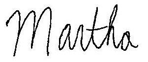 Martha Tinsley signature