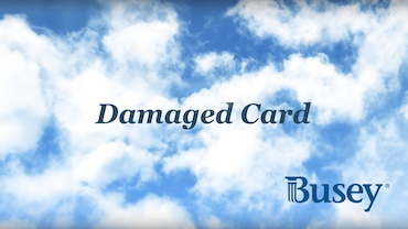 Damaged Card