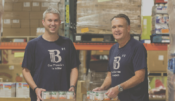 Busey Associates volunteering at a food bank