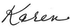 Karen Walker signature