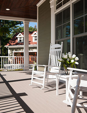 Chairs on front porch.