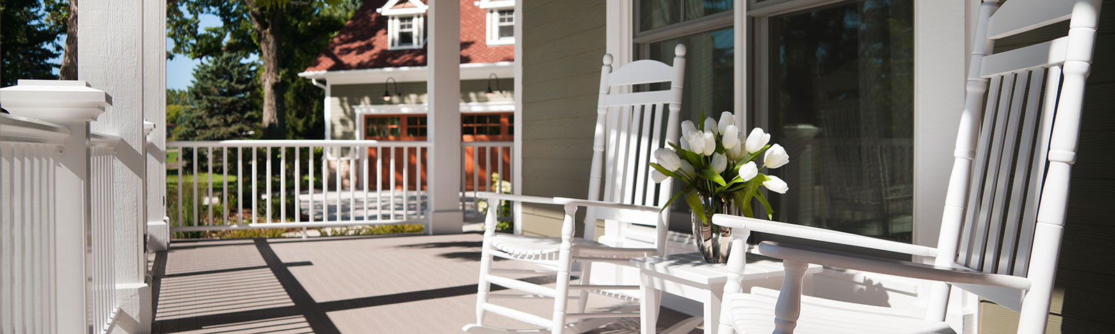 Chairs on porch